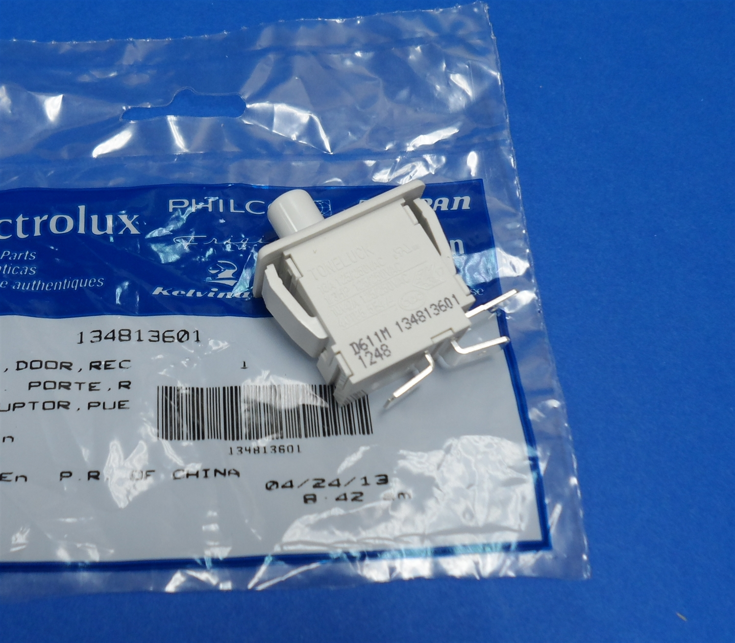 Electrolux Frigidaire 134813601 Dryer Door Switch at Sears.com
